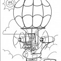 Easter Bunny in Hot Air Balloon